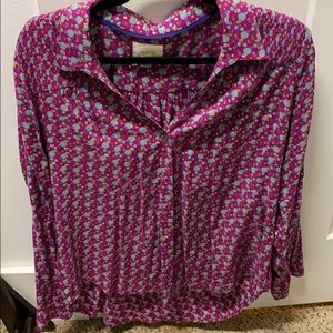 Anthropologie Button Down Blouse
